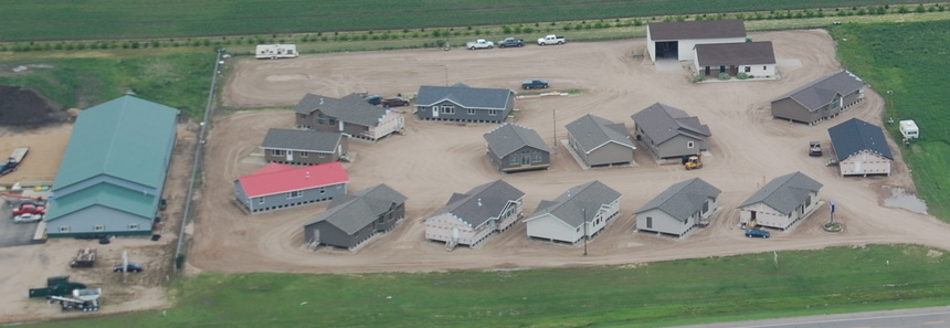 Aerial of Brewster Homes